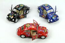 "3PC SET: 7"" Kinsmart 1967 VW Volkswagen Beetle Decal Diecast Model Toy Car 1:24"