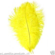 """20 X Large plumas de avestruz, 20"""" -30"""" amarillo, 51-76cm de largo 100% natural teñido Nuevo Y En Caja"""