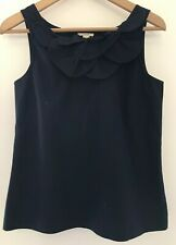 J.Crew Blue Top With Interesting Collar