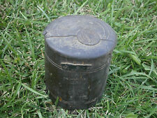 OLD RARE PRIMITIVE BEAUTIFUL WOODEN BOX WITH LID AND WITH DARK PATINA