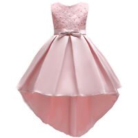 Flower Girl Wedding Dress Kid Princess Pageant Communion Formal Party Ball Gown