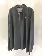 Vansport Men'S 1/4 Zip Herringbone Pnc Pullover Charcoal/Black 3X Nwt