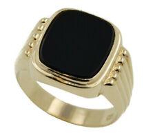 Seal Ring Men's Ring Onyx 333 Yellow Gold 8 Carat Size 61 4,4 Gram