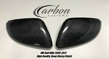 VW Golf MK6 Carbon Fibre Replacement Mirror Covers Golf GTI Golf R 2009-2012