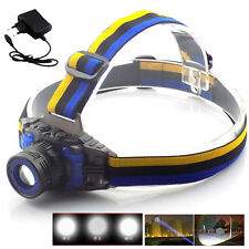 Q5 1600lm Headlamp Zoomable Focus Frontale LED Head Lamp Flashlight+AC Charger