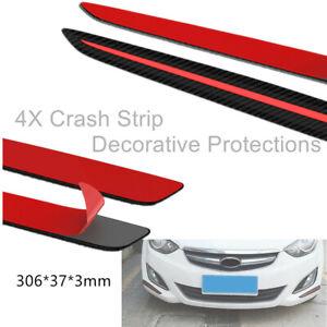 Universal Car Front&Rear Bumper Carbon Fiber Crash Strip Decorative Protections