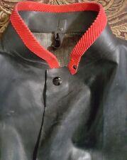 Kaufman BLACK DIAMOND Black Long HEAVY DUTY Rubber Waterproof Coat 1594 Medium