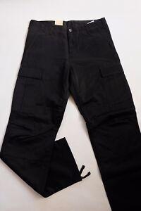 JEANS PANTALON CARHARTT REGULAR CARGO  PANT (black rigid) W31  L34  VAL120€