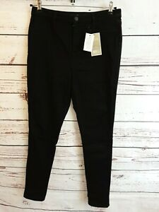 V durch sehr Addison Hohe Taille suoer Skinny Jeans-schwarz Größe 16