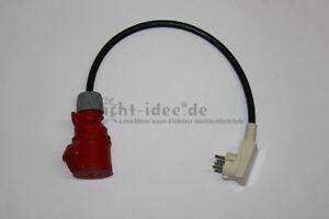 Adapter Perilex Winkel Stecker auf 1 x 400 V CEE Adapterstecker 16 A Kraftstrom