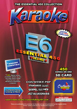 Chartbuster Essential 450 Karaoke Songs Vol 6 SD Card or USB CDG Music 4 PLAYER