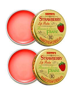 Rosebud Salve Strawberry Lip Balm 0.8 oz tins - 2 Pack  *NEW*