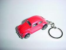 3D PINK VOLKSWAGEN BEETLE CUSTOM KEYCHAIN keyring KEY CHAIN VW BACKPACK BLING