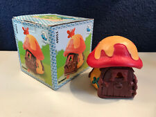 Smurfs Small Mushroom House Yellow Red Smurf Vintage Playset Cottage Toy 49011