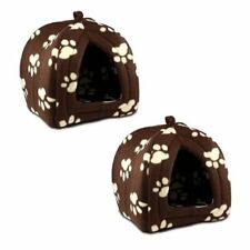 Soft Fleece Pet Hut Set of 2