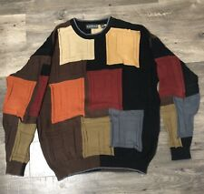 Tundra Canada Color Block Multi Color Pullover Sweater Knit Mens Large