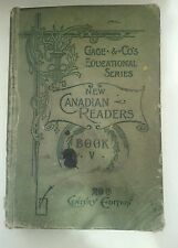 "Vintage ""New Canadian Readers Book V"" from 1901 20th Century Edition School Book"