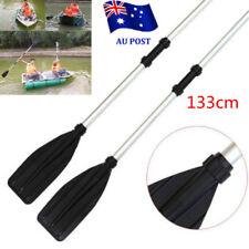2PCS 133cm Aluminum Detachable Float Afloat Oars Paddles Boat Kayak Raft Canoe M