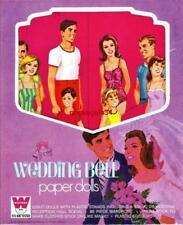 Vintage Uncut 1971 Wedding Bell Paper Dolls~#1 Reproduction~Large Wardrobe~Rare!