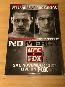 UFC on Fox 1 cast signed 27x41 Original 1 sheet poster UFC SBC