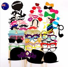 58PC Fun Novelty Birthday Hat Mustache wedding Party Photo booth PROP selfie