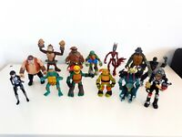 TMNT Action Figure Bundle Joblot x13 Teenage Mutant Ninja Turtles Playmates