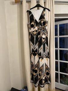 Wallis Size 14 Petite Maxi Dress Fit & Flare Boho
