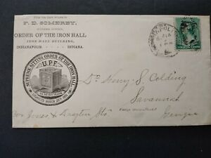 Indiana: Indianapolis 1888 Order of Iron Hall Advertising Cover