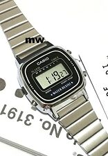 Casio Ladies Digital Watch LA670 LA670WA LA-670WA-1U Battery Dress Black Face