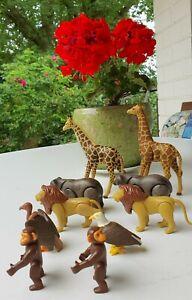 Playmobil Set Tiere Dschungel Afrika Arche Noah Giraffe Bär Löwe Geier Affe top
