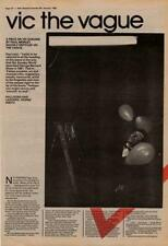 Vic Godard Subway Sect Interview NME Cutting 1982