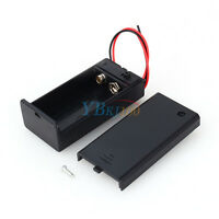 9V Volt PP3 Battery Holder Box DC Case w/ Wire Lead ON/OFF Switch Cover HighQ FZ