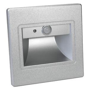 LED Éclairage D'Escalier Avec Détecteur de Mouvement Stade de Lumière 1W Argent