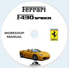 Workshop Manual,Ferrari F430 Spider,manuale officina e cat.ricambi