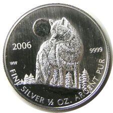 elf Canada 1 Dollar 2006   Silver  1/2 Ounce   Timber Wolf