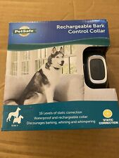 Rechargeable Dog Bark Control Collar Stop Barking Whining Wimper 8 lb+ PetSafe