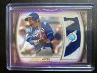 2021 Topps Definitive Mookie Betts Jumbo Relic Card 3/5 Purple LOS Dodgers