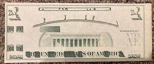 1970s GIORI TEST NOTE $1 $5 LINCOLN MEMORIAL UNC EPQ RARE ANTIQUE CURRENCY NR