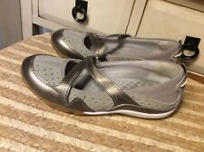 PRIVO By CLARKS Bronze Leather Mary Janes Comfort Women's Flats Shoes Sz 7M