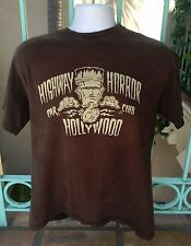 Highway Horror Hollywood Car Club Lucky Brand BLACK MEDIUM T-Shirt FRANKENSTEIN