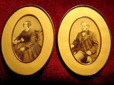 PHOTOS anc. PAPIER ALBUMINé COUPLE années 1860 la paire