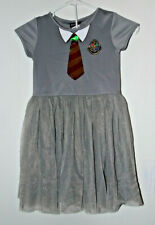 Girls Harry Potter Shirt with Dress & Sequin Tie Size L 10/12, Dressup Cosplay