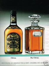 Publicité Advertising 1995 Scotch Whisky Chivas Regal