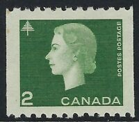 Scott 406: 2c Queen Elizabeth II Cameo Coil - VF-NH