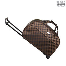 Rolling Wheeled Duffle Bag Light Weight Trolley Travel Suitcase Carry On Luggage
