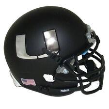 NCAA Miami Hurricanes Black Chrome Schutt Authentic Mini Football Helmet