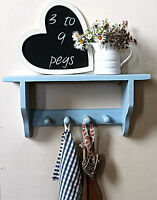Wall mounted coat rack with shelf handmade wooden hallway or children shelves