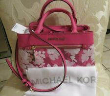 NWT MICHAEL KORS XS/Small Messenger Crossbody, Pink White & MK Cover MSRP $328+