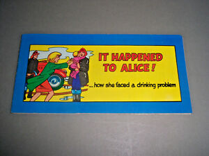It Happened To Alice How She Faced A Drinking Problem 1968 AA Mini Comic VF 8.0