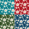 Polycotton Fabric Daisy Bloom Floral Flowers Daisies Garden Craft Material
